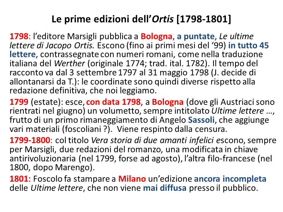 Le prime edizioni dell'Ortis [1798-1801]